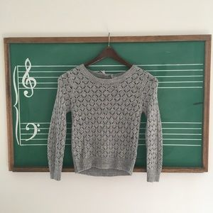 Cherokee Soft Gray Sweater w/ Bow Detail